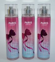 3 BATH & BODY WORKS PARIS AMOUR FINE FRAGRANCE MIST BODY SPRAY SPLASH 8 OZ LARGE