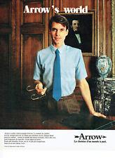 Publicité Advertising 127  1980  chemise homme Arrow