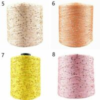 3500m 500g/ball Mercerized Yarn Summer Ice Silk Special Sequin Hand Woven Rag