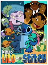 Lilo & Stitch Split Personality Awesome Detailed Ltd Disney Artwork Lithograph