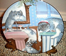 "Cat Lovers Plate # 1346K Mischief Makers from Country Kitties 8 1/2"" (1988)"