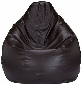 Radanya Leatherette XXXL SIZE  Bean Bag Cover Without Beans Brown