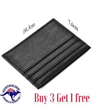 Mens Leather Wallet,Slim Card Holder In Black,free Shipping From Australia