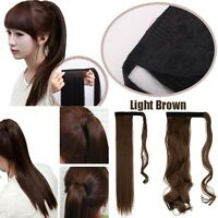 """17""""-26"""" Long Straight Curly Wavy Ponytail Clip in Hair Extensions Pony Tail G15"""