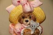 Otagiri Porcelain Music Box designed by Debra Meyer- girl bear holding Teddy