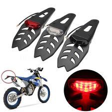 Portatarga Moto Motard Trial Quad Cross Enduro Faro Stop Fanale Led Luce Targa