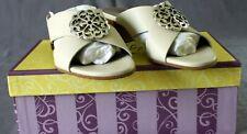Brighton Footwear ALISON White Sandals  - Size 7M -BRAND NEW