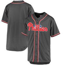 Philadelphia Phillies MLB Men's Charcoal Fashion Big & Tall Team Jersey