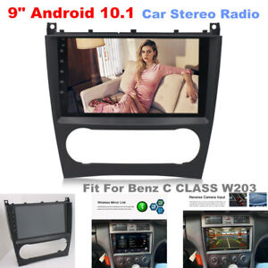 """Fit For Mercedes Benz C CLASS W203 9"""" Android 10.1 Car Player FM Radio GPS Wifi"""