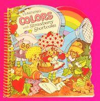 VINTAGE STRAWBERRY SHORTCAKE LEARNING COLORS WITH STRAWBERRY SHORTCAKE BOOK. COP