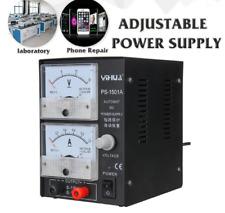 Regelbares DC Labornetzgerät 15V 1A 220V Power Einstellbar Netzgerät Netzteil