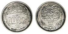10 Piastres AH1335-1917 Egitto Egypt Argento Silver #4428A