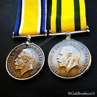British War Medal & Territorial Force War Medal - British Army WW1 British Copy