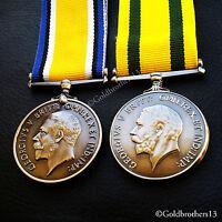 British War Medal & Territorial Force War Medal - British Army WW1 British Copy