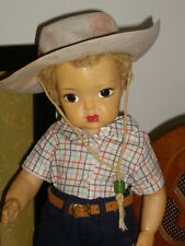 Terri Lee/JERRI LEE Doll BLONDE CARACUL Rare Studded Hat, Jeans w/LEATHER BELT