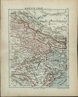 British India North Nepal Bengal Tibet 1882 charming small Dutch old map