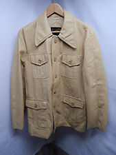 Men's Vintage(?) Master-Jac Yellow Button Down Jacket Size M; Made in Korea