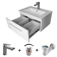 Badmöbel Set 60cm Waschbecken mit Unterschrank Waschtischunterschrank Schublade