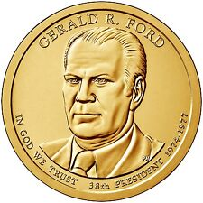 2016 P Gerald Ford Presidential Dollar Roll Mint Wrapped HEAD TAILS Roll In Hand