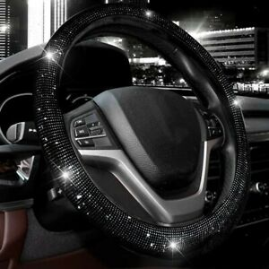 Bling Rhinestones Steering Wheel Cover For Women With Crystal Diamond Sparkling