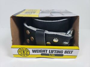 "Golds Gym Leather Weight Lifting Training Belt - Back Support - 34""-42"" L/XL NEW"