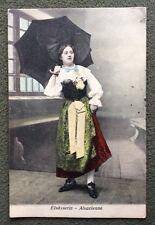 CPA. ALSACIENNE. ELSÄSSERIN. Costume. Tradition. Parapluie. 1908.