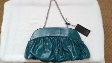 WOMEN'S 'BETTY JACKSON BLACK' TURQUOISE PATENT LEATHER HANDBAG/CLUTCH PURSE NWT
