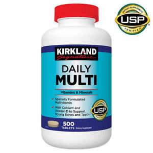Kirkland Signature Daily Multi Vitamins Minerals Supplement 500 Tablets Ex05/23!