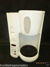 White Melitta MEMB1 Mill & Brew Coffee Brewer Maker Parts Or Repair As Is