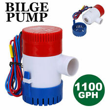 12V Submersible Bilge Water Pump 1100GPH Caravan Camping Marine Fishing Boat DQ&
