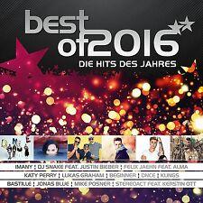 Best of 2016-die hits de l'année 2 CD NEUF Clueso/JUSTIN BIEBER/Flume/+