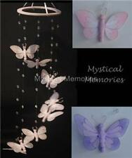 Butterfly nursery mobile decoration  Pink