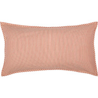 SAWYER MILL RED Ticking Stripe King Sham Farmhouse White Cotton VHC 21x37
