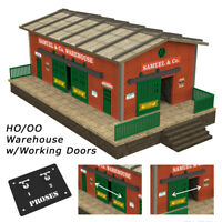 OO Scale Warehouse Kit with Motorized Working Doors (see video)