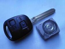 Genuine Toyota Celica Yaris mr2 ecc. (rf&led tipo) 2bt Remote Alarm non tagliata portachiavi