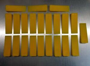 22 gelbe Kunststoffkeile Montage-Demontage UnterlegkeileFensterkeile Klemmkeile
