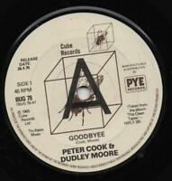 PETER COOK & DUDLEY MOORE goodbyee*the music teacher 1978 UK CUBE PROMO RE 45