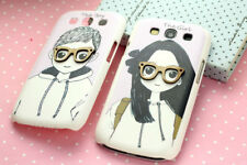 Cute 3D Glasses Girl and Boy Hard Case Cover For Samsung Galaxy SIII S3