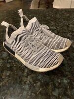 Adidas NMD r1 STLT Zebra PK Primeknit Grey Black Mens Running Sneakers 13 GU