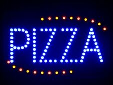 "nled008-b Pizza Shop OPEN LED Neon Business Light Sign 16"" x 10"""