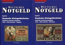 Deutsches Notgeld-Scheine Band 5 und 6 Notgeldausgaben Kleingeldscheine Buch