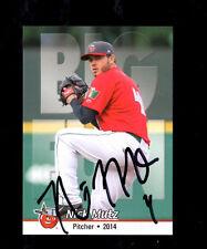 Nick Mutz 2014 Ft Wayne Tincaps autographed signed team set card