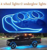 Blue LED Wheel Light Rings High Powered LED Tire Light Sync LED Underglow Light