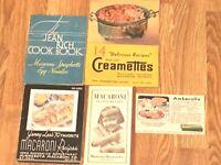 5 Vintage Brochures for Jenny Lee, Minnesota Macaroni, Creamettes Recipe & Ads