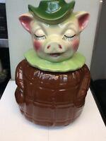 SHAWNEE WINNIE PIG #61 COOKIE JAR & PIGGY BANK WITH COIN SLOT VINTAGE 1940's