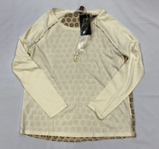 Scotch & Soda Maison Long Sleeve T-Shirt Off White Ladies Size UK 6 (XXS)*REF174