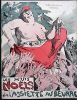 """L'Assiette au Beurre #195 """"Les Petits Noël""""  Christmas 1904 French Satire Art"""