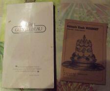 Ancienne Carte Pâtisserie Chocolatier Traiteur
