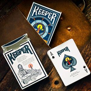 Keeper Playing Cards - Blue - Ellusionist Deck - Magic Tricks - New