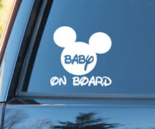 Mickey Minnie Mouse Baby on Board Sticker Decal Sign